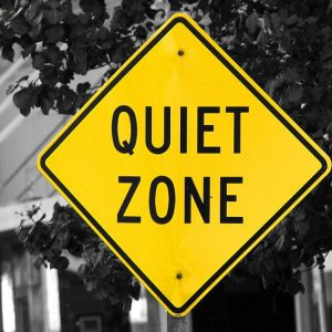 Distractions free quiet zone sign