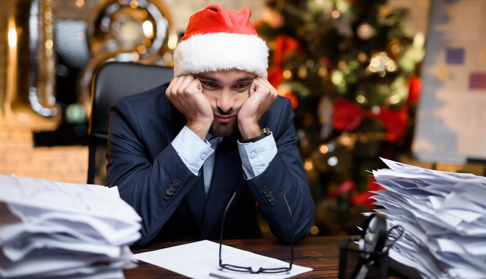 man-with-low-productivity-during-festive-season